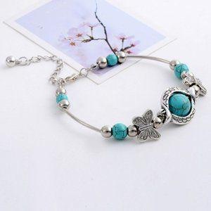 Tibetan Silver Bead Charm Bracelet